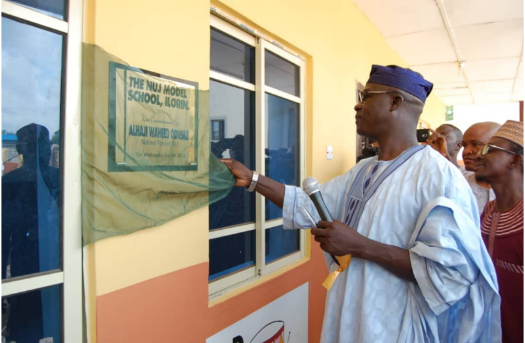 History, As Kwara NUJ Commissions School, Mosque