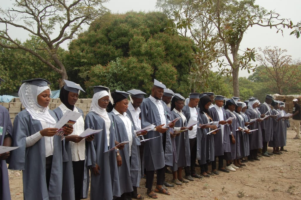 King Leo College of Health Technology matriculates 35 in second set *Breaks new ground for permanent site at Lamba