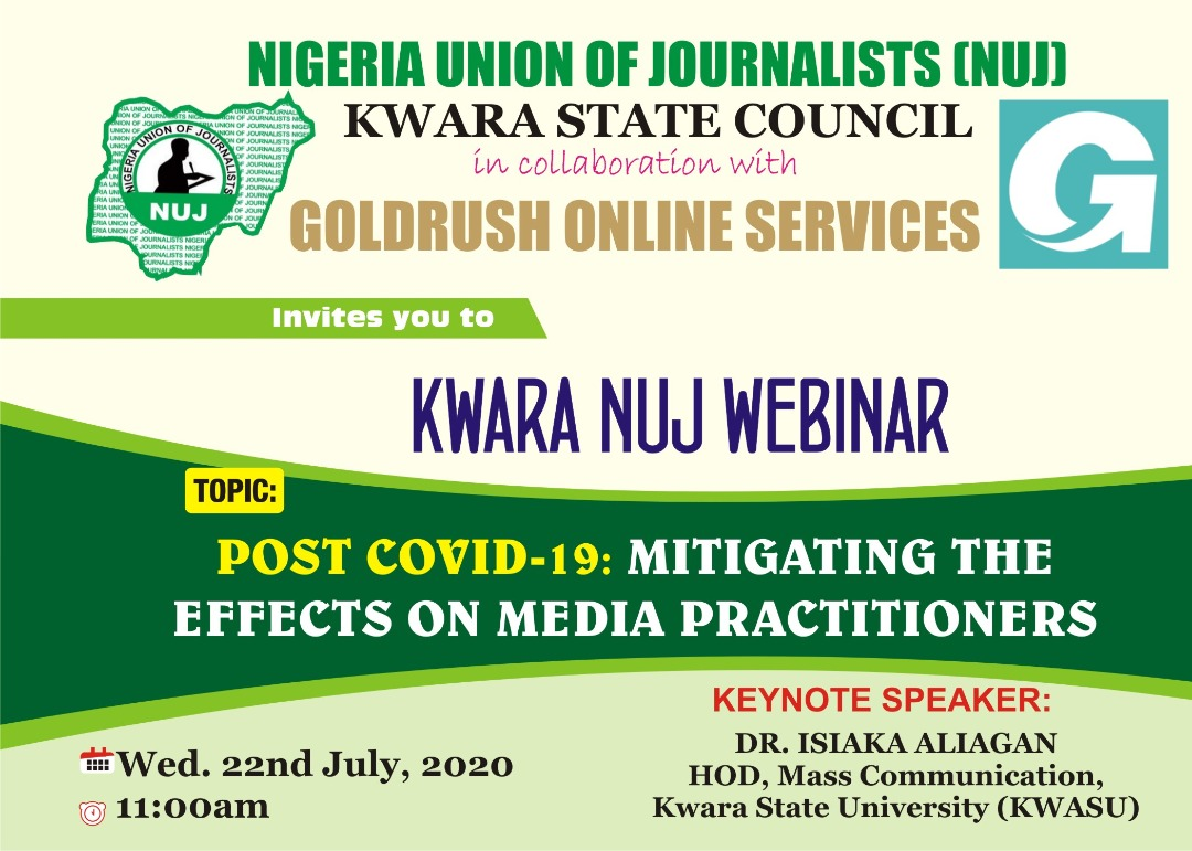 POST COVID-19 PANDEMIC: MITIGATING THE EFFECTS ON MEDIA PRACTITIONERS BY DR. ISIAKA ALIAGAN