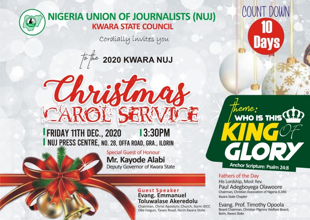 2020 KWARA NUJ – Christmas Carol Service