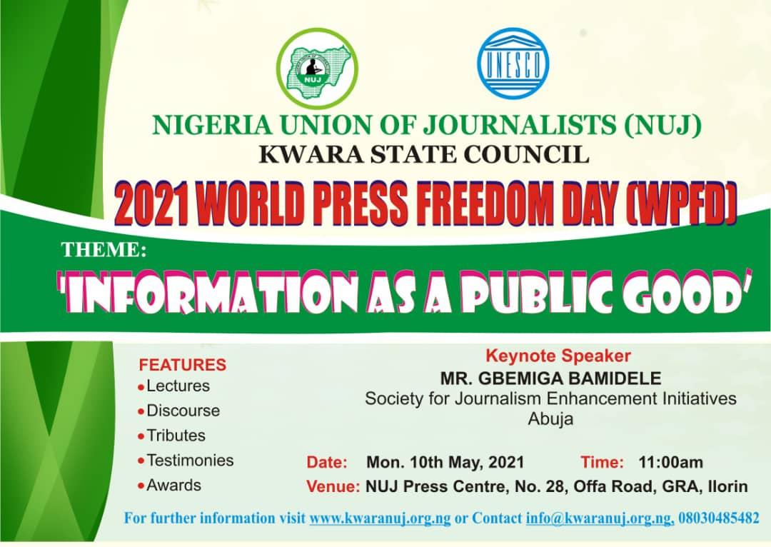 2021 WORLD PRESS FREEDOM DAY (WPFD): 'Information as a Public Good'