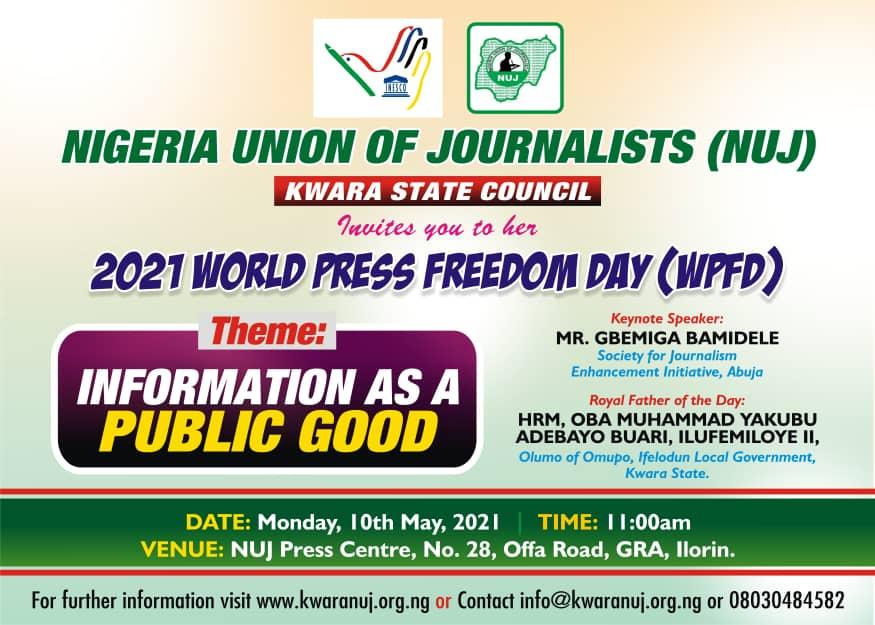 Kwara NUJ marks World Press Freedom Day, Monday 10